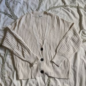 Oversized Cropped Cardigan